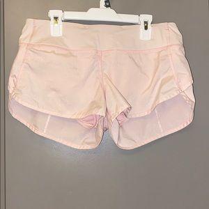Lululemon pink/ silver shorts